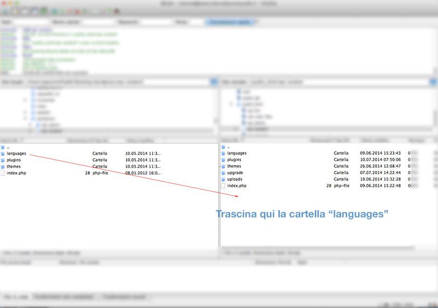 cartella languages wordpress