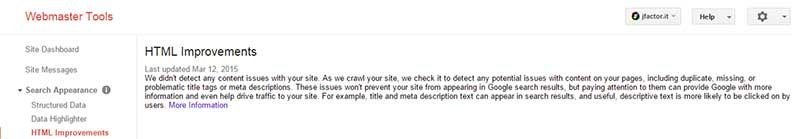 Verificare che sia tutto a posto con Google Webmaster Tools