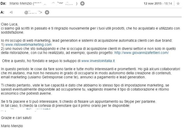 avviare un business online email menzio