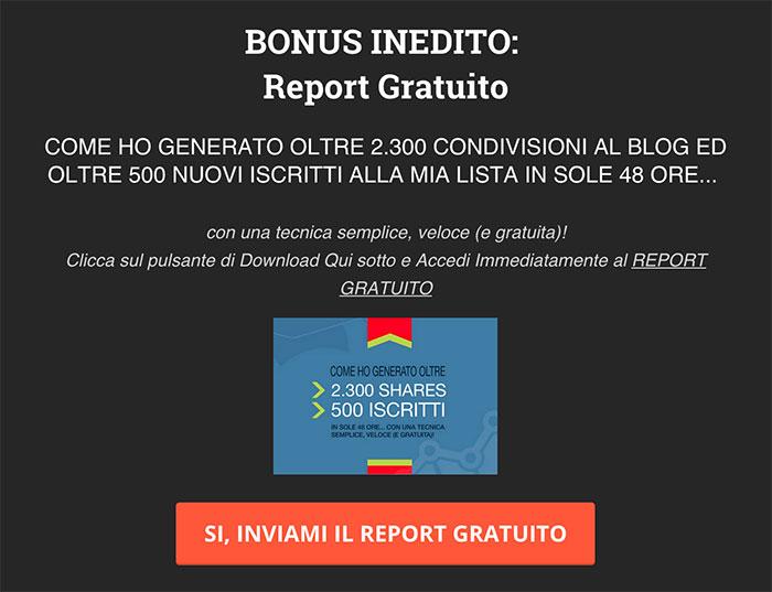 report gratuito per generare iscritti